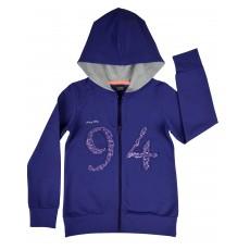bluza dziewczęca długi zamek z kapturem - A-5471
