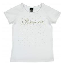 bluzeczka dziewczęca krótki rękaw - A-6046