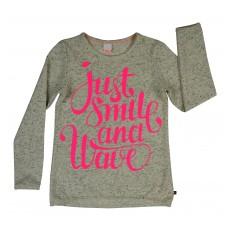 bluza dziewczęca z neonowym nadrukiem - A-6152