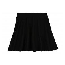 rozkloszowana spódnica a`la jeans z kieszonkami - A-6203