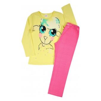 piżamka dziewczęca z owieczką