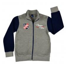 ciepła bluza chłopięca długi zamek - GT-4691
