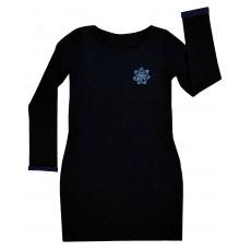 połyskująca sukienka z kieszonkami - A-6359