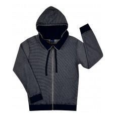 bluza chłopięca długi zamek z kapturem - GT-4796