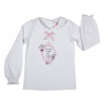 bluzeczka dziewczęca z kołnierzykiem