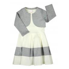 2 częściowy komplet (sukienka + bolerko) - A-6642