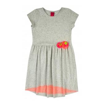 sukieneczka z neonowymi kwiatkami i tiulem