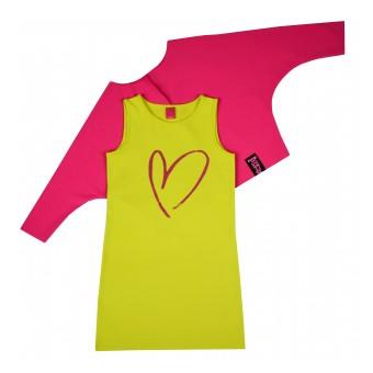 2 częściowy komplet (sukienka + narzutka) - A-6636