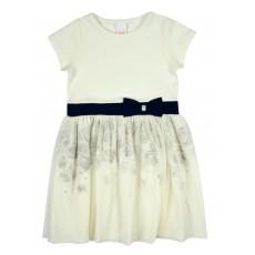 wizytowa sukienka z tiulem - A-6691