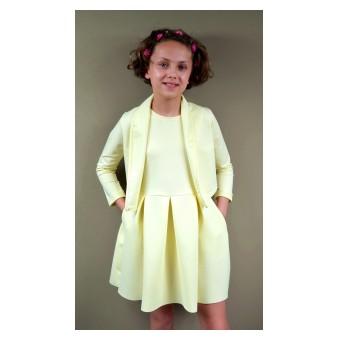 2-częściowy komplet (sukienka + wdzianko) - A-6775