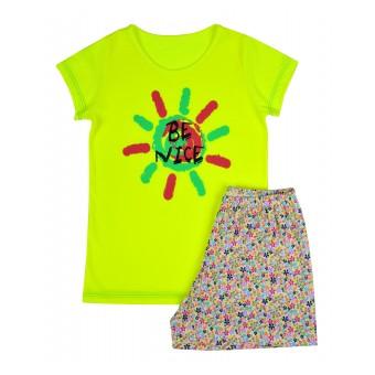 piżama dziewczęca krótki rękaw