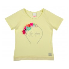 bluzeczka dziewczęca krótki rękaw - A-6716