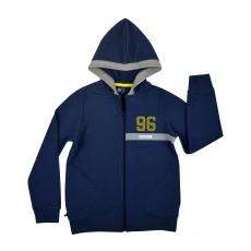 bluza chłopięca długi zamek z kapturem - GT-5333