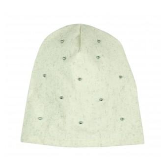 błyszcząca czapeczka z perełkami - A-7058