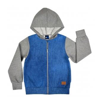 bluza chłopięca długi zamek z kapturem - GT-5502