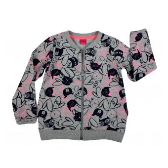 cieplutka bluza dziewczęca długi zamek