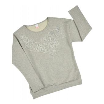 bluza z połyskującej dzianinki - A-7244