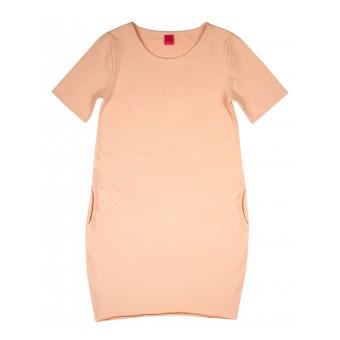 sukienka z ozdobnymi kieszonkami - A-6620