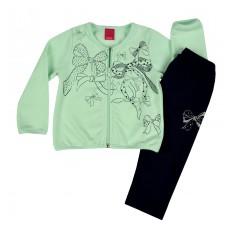 komplecik dziewczęcy z ciepłą bluzą - A-7196