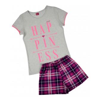 piżama dziewczęca krótki rękaw - A-5988