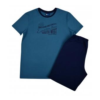 piżama męska krótki rękaw