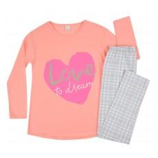 piżama dziewczęca długi rękaw - A-7654