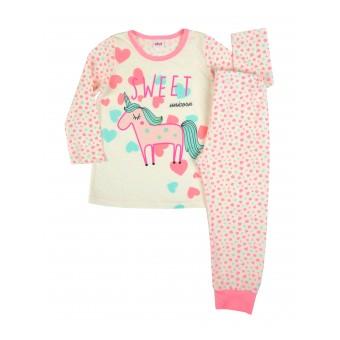 piżama dziewczęca długi rękaw - A-7756