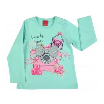 ciepła bluzeczka dziewczęca długi rękaw - A-7745
