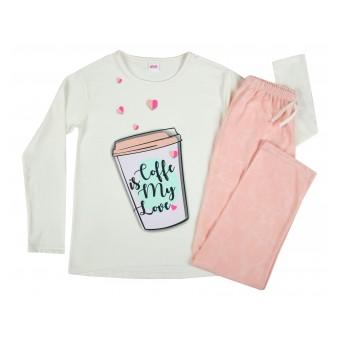 piżama dziewczęca długi rękaw - A-7786