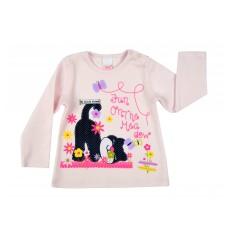 ciepła bluzeczka dziewczęca długi rękaw - A-7815