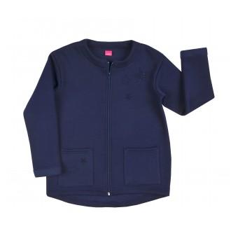 cieplutka bluza dziewczęca długi zamek - A-7861