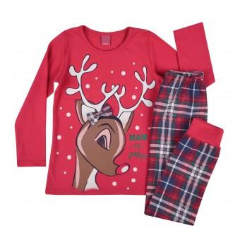 piżama dziewczęca długi rękaw - A-7927