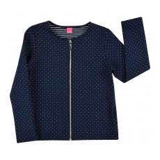 pikowana bluza ze srebrną nitką - A-7938