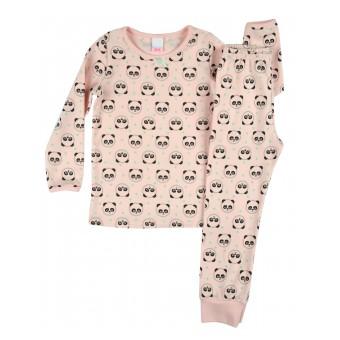 mięciutka piżama dziewczęca długi rękaw - A-7936