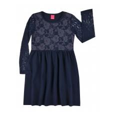 sukienka z koronkowymi rękawami - A-7949