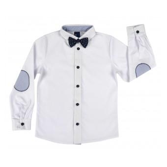 elegancka koszula chłopięca z muchą