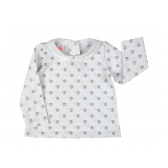 bluzka dziewczęca z kołnierzykiem - A-7965