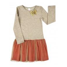 sukienka ze złotym połyskiem - A-7976