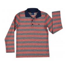modna bluzka polo w paski - GT-6376