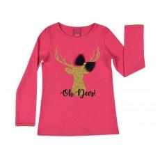 świąteczna bluzeczka dziewczęca długi rękaw - A-7954