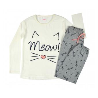 piżama dziewczęca długi rękaw - A-7959