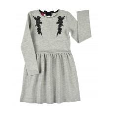 połyskująca sukienka z kokardką - A-7980