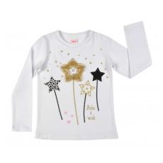świąteczna bluzka dziewczęca długi rękaw - A-7981