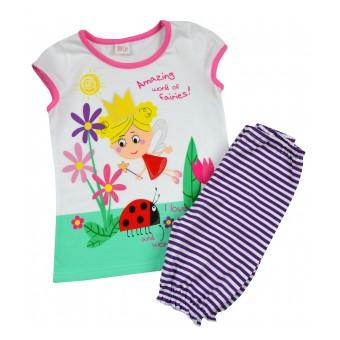 piżamka dziewczęca krótki rękaw