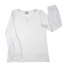 bluzka dziewczęca długi rękaw - A-8070