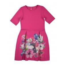 sukienka dziewczęca z kieszonkami - A-8109