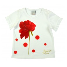bluzeczka dziewczęca krótki rękaw - A-8150