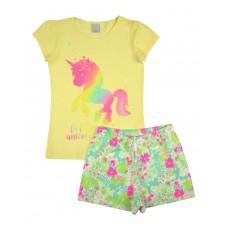 piżama dziewczęca krótki rękaw - A-8187