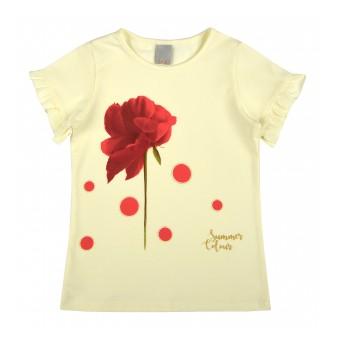 bluzeczka dziewczęca krótki rękaw - A-8198