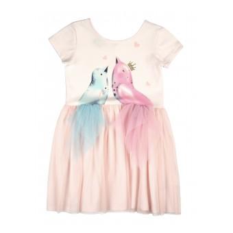 sukienka dziewczęca z tiulem - A-8236